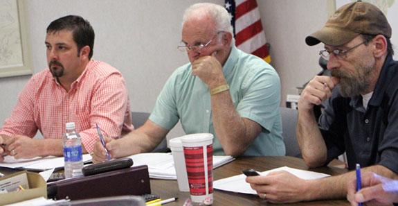 Supervisors Lauren Yoder (left), Joe Turman and Case Clinger