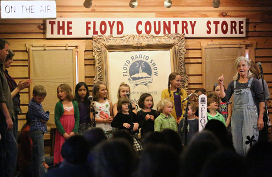 Students from Blue Mountain School perform in the Radio Show.