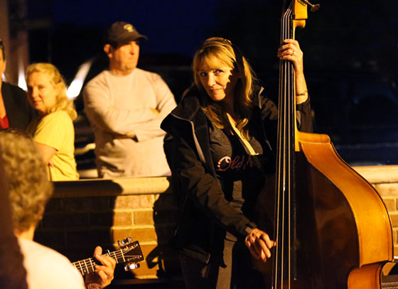 Even cold weather did not stop the musicians from playing downtown