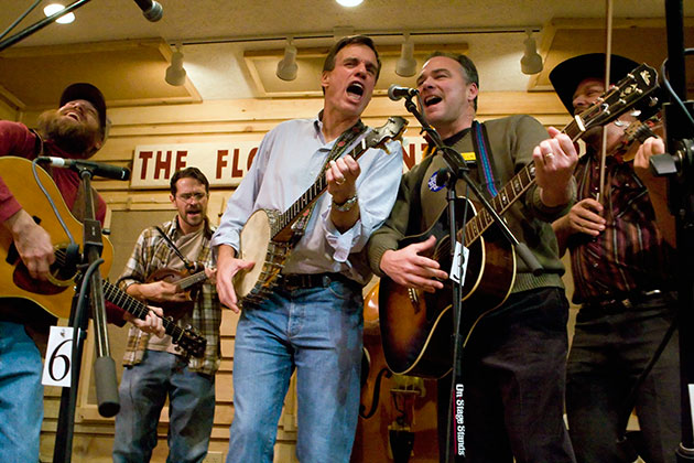 Mark Warner and Tim Kaine at the Friday Night Jamboree: November 2007