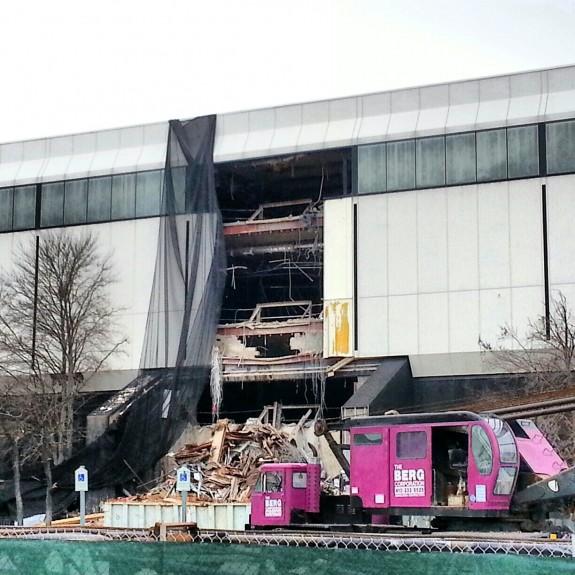 Demolition of White Flint Mall in Bethesda, Maryland