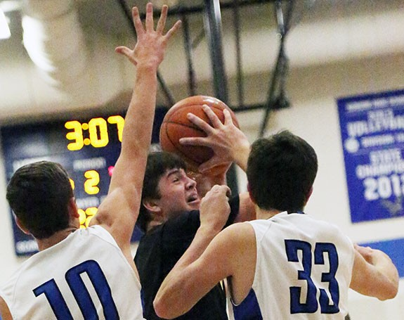 Justin Conduff goes for the basket