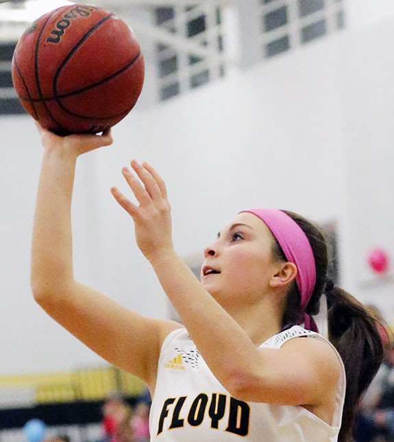 Emily Boothe: Scoring leader for Floyd Monday night.
