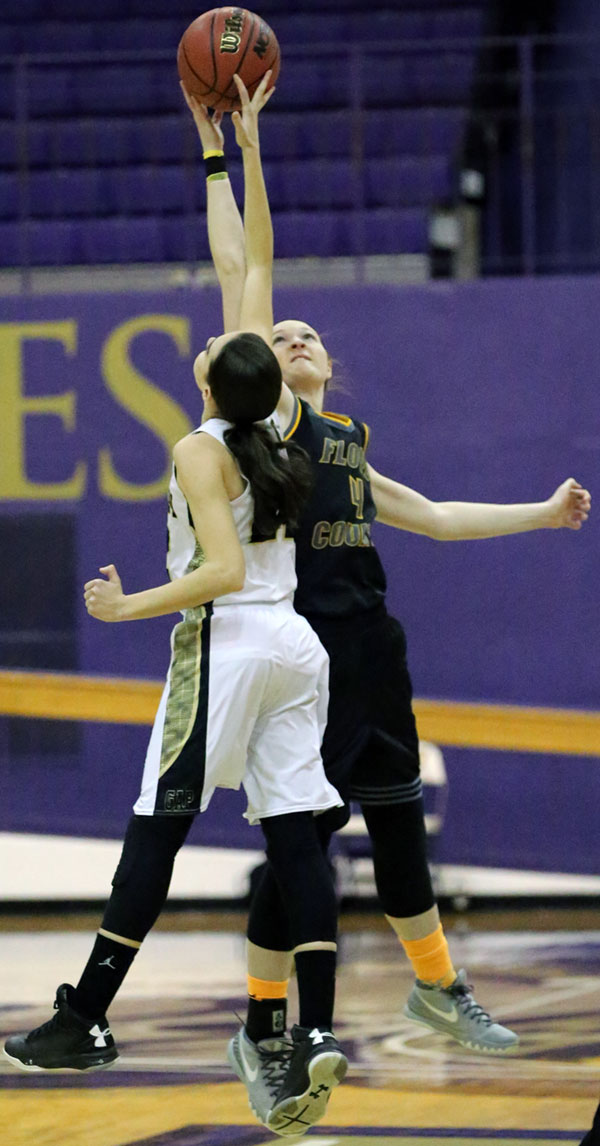 Even with a badly sprained ankle, Ragan Wiseman controls the tip.
