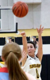 Alexis Kiser scores on her way to 19 for the night.