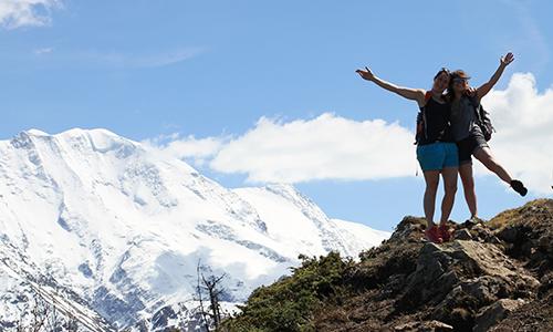 Yoga hiking retreat french alps autumn chamonix mont blanc relaxation