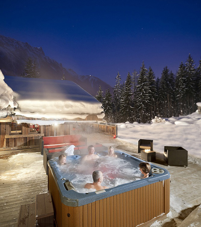 chalet france french alps yoga retreat chamonix mountain mountains spa holiday mont blanc meditation spring autumn relax hot tub