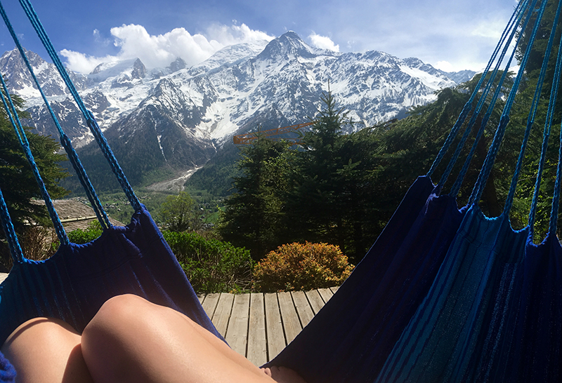 Sunbathing, hammock, Yoga, Retreat, Chamonix, Mont Blanc, France, Europe, Luxury, Chalet, spa, hot tub, hiking, meditation, alps, wellness, health, healthy, food, mountain, travel, mountains, retreats, holistic, holiday, hike, walking, hikes, wellbeing, mindfulness, retreats, mont, blanc