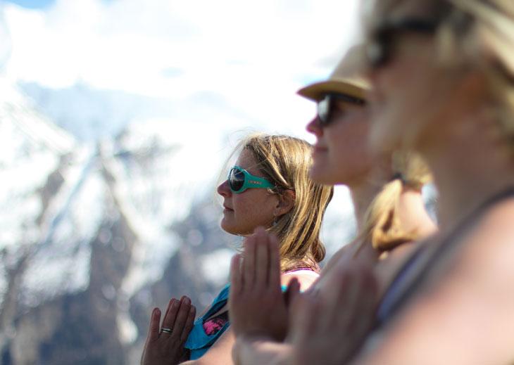 chalet france hike french alps yoga retreat chamonix mountain mountains spa holiday hiking mont blanc meditation spring autumn relax hot tub