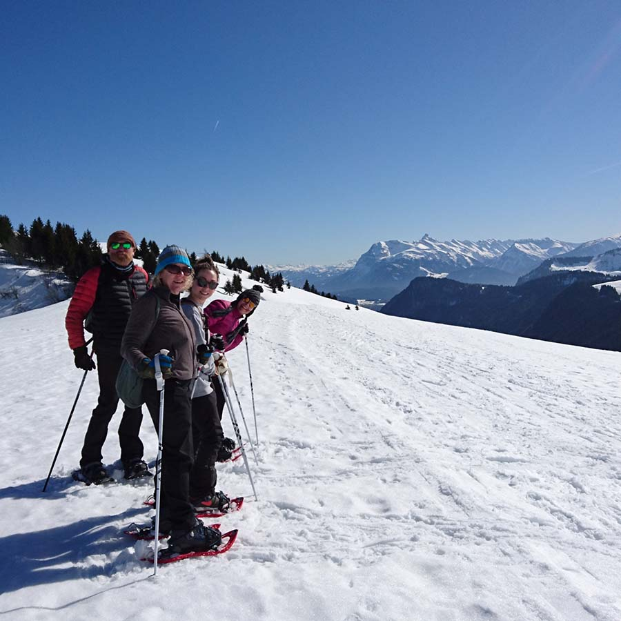 Yoga snowshoeing hiking retreat spring autumn chamonix mont blanc relaxation