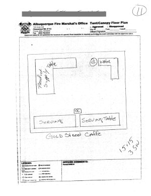 City of Albuquerque Fire Marshal Tent Layout Form | Blue River Productions