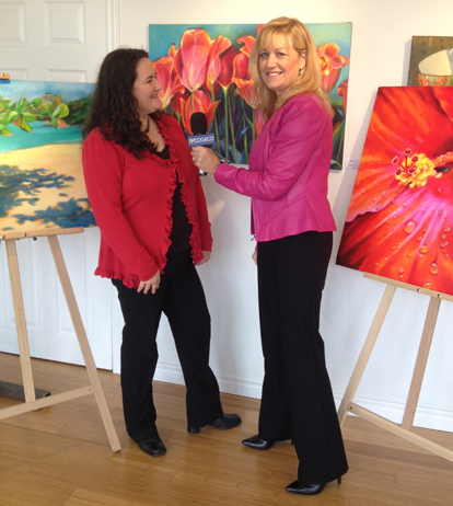 Donna Grandin, interviewed by Deb Tymstra of Halton Insider, TV Cogeco about Art in Action Studio tour 2013