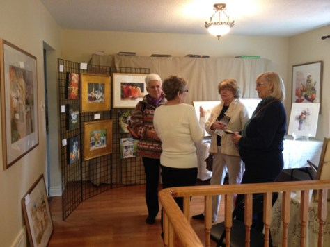 Donna Fratesi with some Art in Action visitors