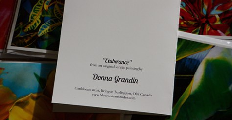 "The back of Donna Grandin Art Card ""exuberance"""