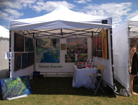 Donna's booth at AIP