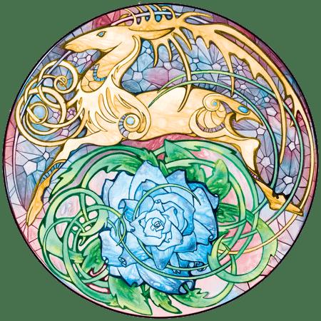 Blue Rose Golden Hart crest