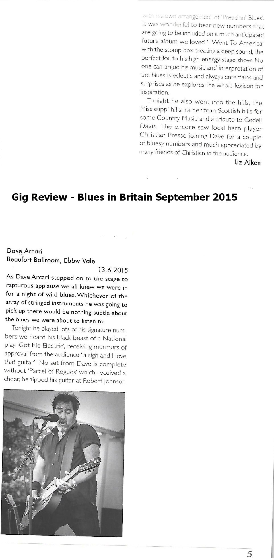 Bluesdoodles in the Press September 2015