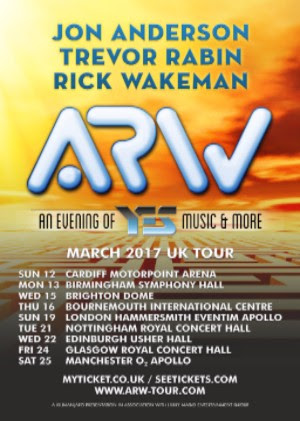 Yes! ARW Anderson Rabin Wakeman 2017 UK Tour
