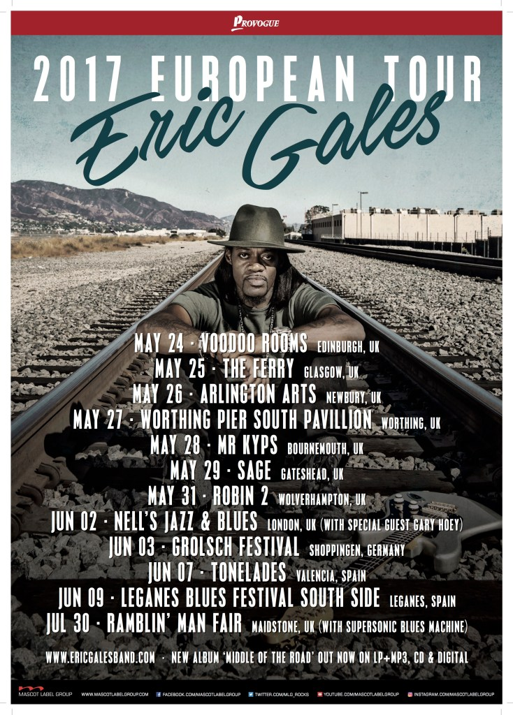 Eric Gales Announces 2017 UK/EU TOUR
