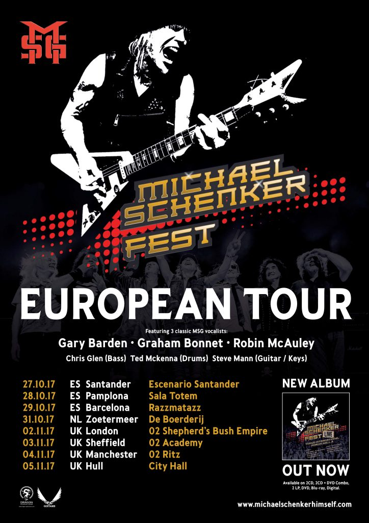 Michael Schenker Live Four Special UK Dates November 2017