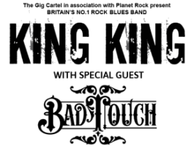 King King UK Tour With Bad Touch Summer 2017