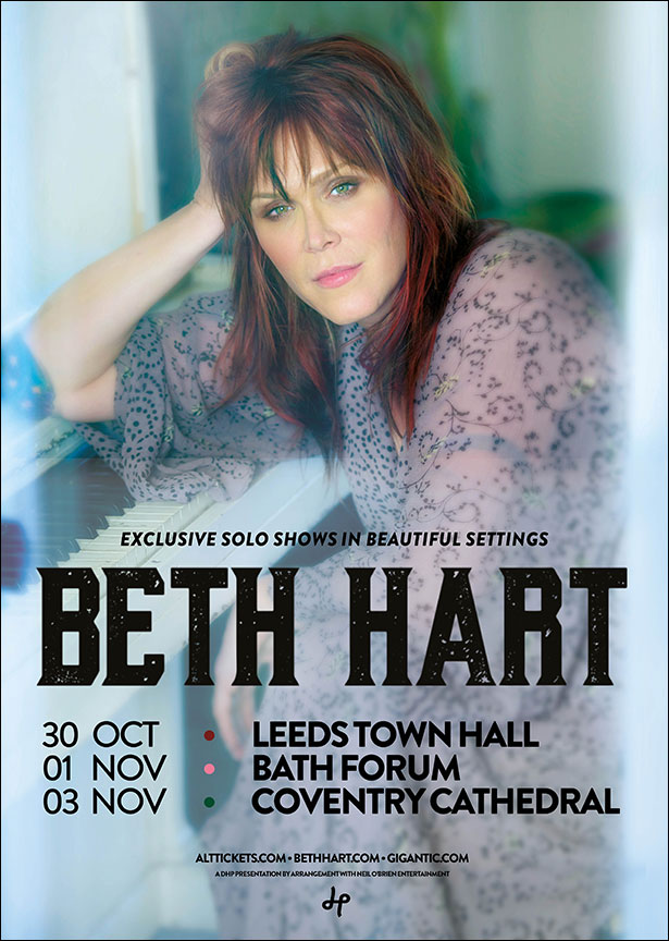 Beth Hart Announces Trio of Beautiful Solo Shows