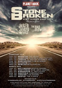 Who will join Stone Broken on Probably The Tour 2018