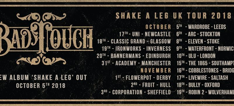 Bad Touch Announces Shake A Leg Headline Tour Plus Record Deal