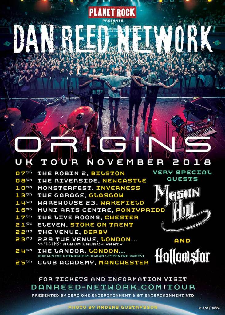 Dan Reed Network Origin Touring November 2018