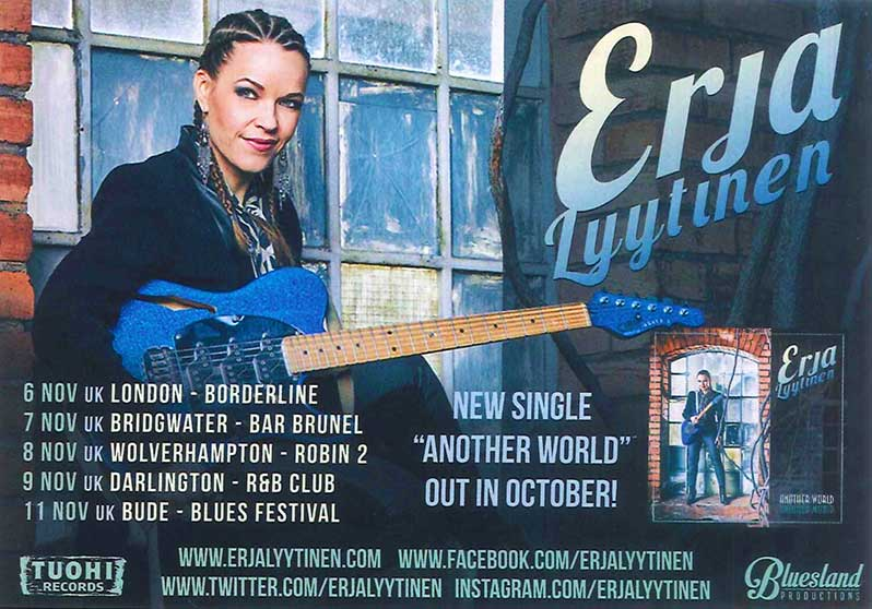 Erja Lyytinen November Tour and New Single