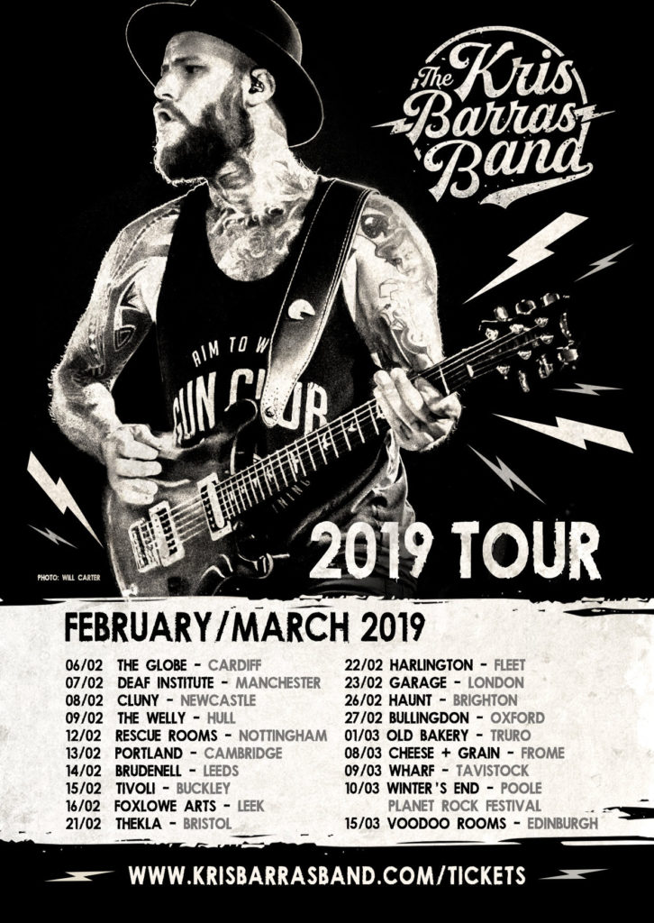 The Kris Barras Band  Headline tour - Coming Soon