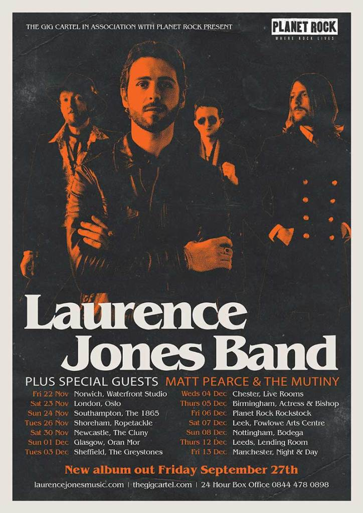 Studio Album Laurence Jones Band states their intentions