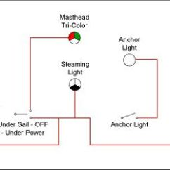 Boat Nav Lights Wiring Diagram Bazooka El Navigation Light Switching For Vessels Under 20 Meters - Blue Sea Systems