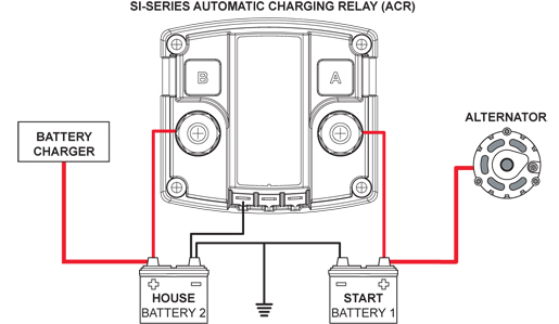 dual battery charging diagram
