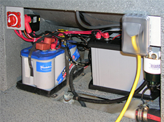dual boat battery wiring diagram ford falcon au stereo adding a secondary battery, switch, and automatic charging relay (acr) - blue sea systems