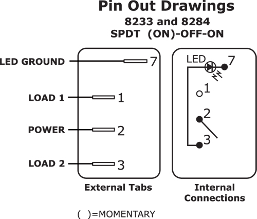 spdt rocker switch wiring diagram