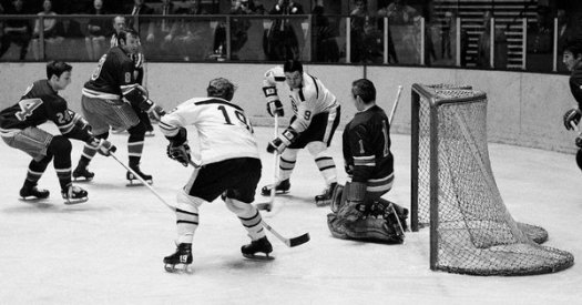 Last time they played, Eddie was in net (Photo: AP).