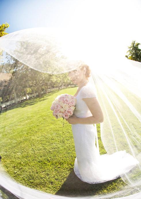 Bride at Brookside Equestrian Center Wedding