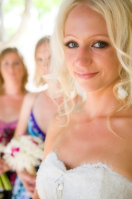 Bride and Bride's Maids at the Martin Johnon House Wedding in La Jolla, San Diego, California