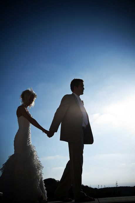 Bride and Groom after their Wedding Ceremony in San Diego, California