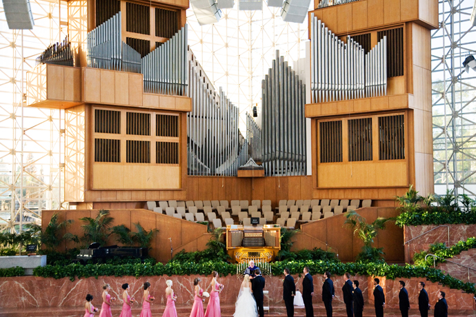 crystal cathedral wedding santa