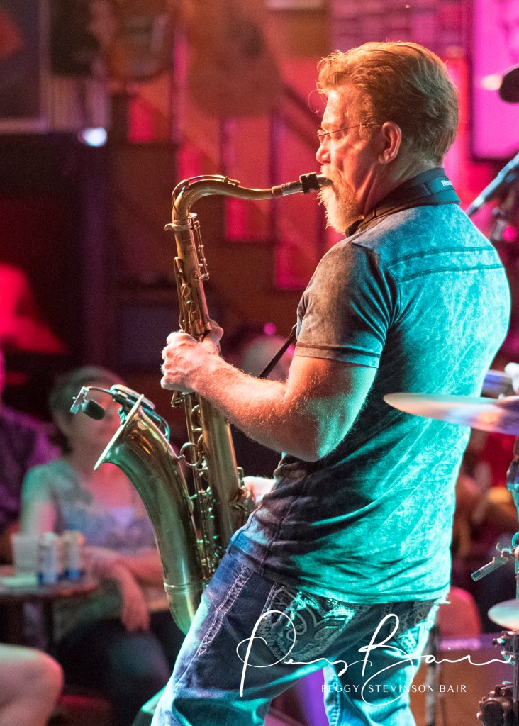Frank Bauer saxophonist Jeremiah Johnson ©2017 Blues Insights Peggy Stevinson Bair