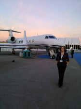Just a casual picture with a Gulfstream.