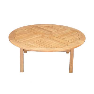"Outdoor Teak 48"" Round coffee table"