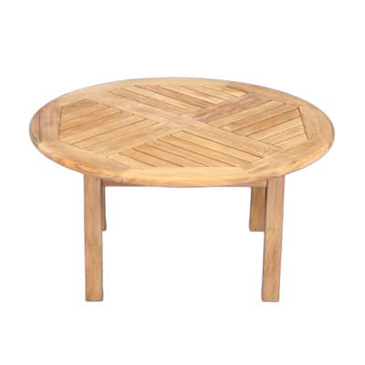 "Outdoor Teak 36"" Round coffee table"
