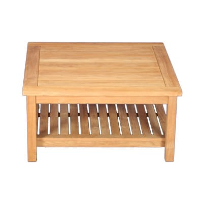 """Outdoor Teak 36""""square two level coffee table"""