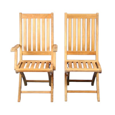 teak folding chair bed uk gumtree sausalito side blue sky outdoor chairs