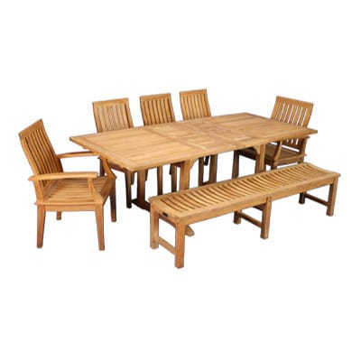 Outdoor Teak extension Dining Table and chairs
