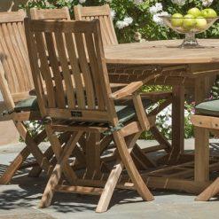 Outdoor Teak Folding Arm Chair
