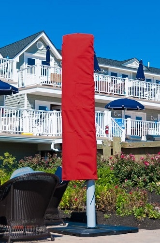 Covered Outdoor Umbrella - Red